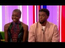 'Black Panther' interview T'Challa Chadwick Boseman and Okoye Danai Gurira