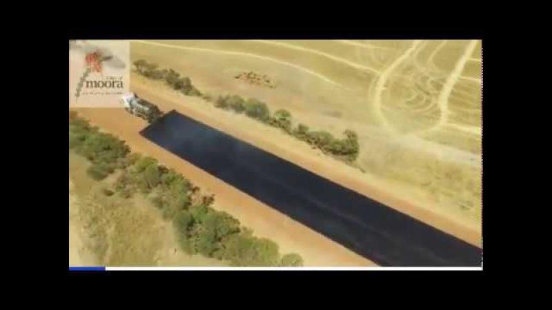 Австралия самая быстрая укладка асфальта и ничего что потом машины в гудроне застревают