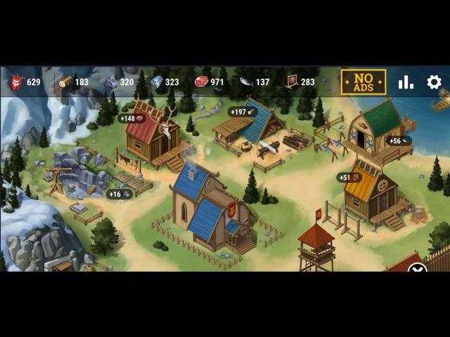Викинги - Построй Свою Деревню - Vikings Odissey Gameplay [Mobile Gaming]