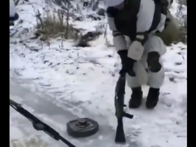 Russian winter games Curling with anti tank mine
