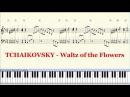 Piano Tutorial Sheet - TCHAIKOVSKY Waltz of the Flowers (Nutcracker) - HD