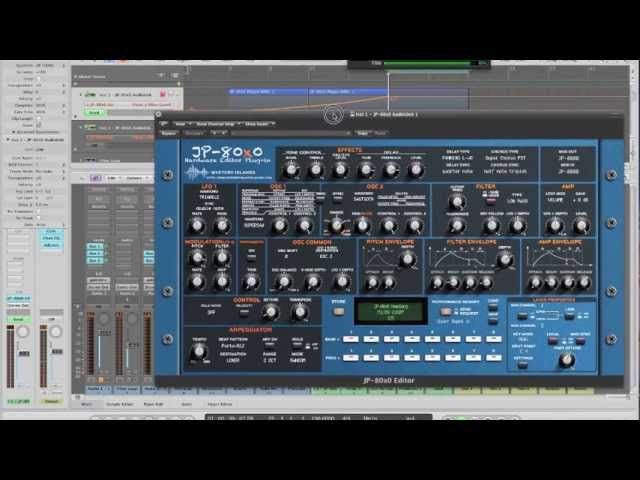 Mystery Islands JP-80x0 AudioUnit VST editor plugin
