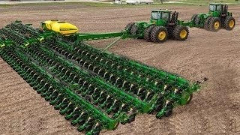 Mundo Asombroso De La Agricultura Moderna De Equipo Pesado Mega Máquinas: Tractor, Cosechadora, Ditc