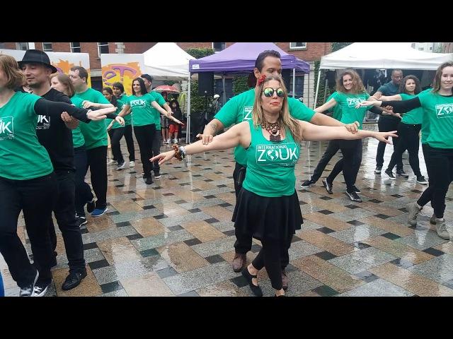BlueFire Street Fest International Zouk day Zouk Flash Mob