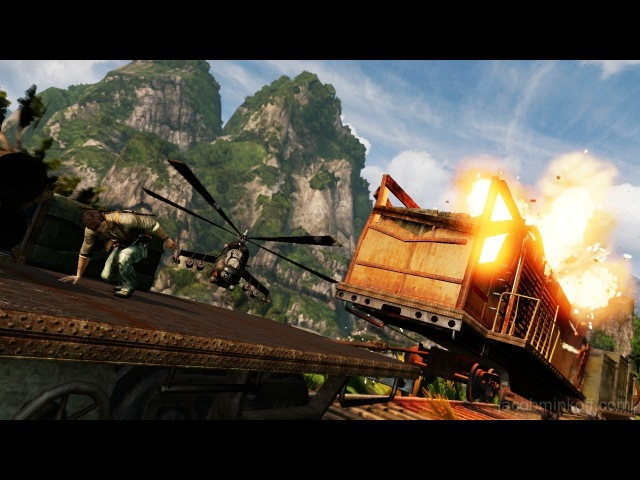 Uncharted 2 Gameplay PS4 - O Trem - Parte 2