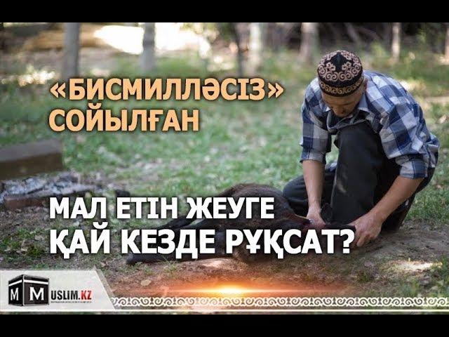 БИСМИЛЛӘСІЗ сойылған МАЛ ЕТІН қай кезде жеуге болады?