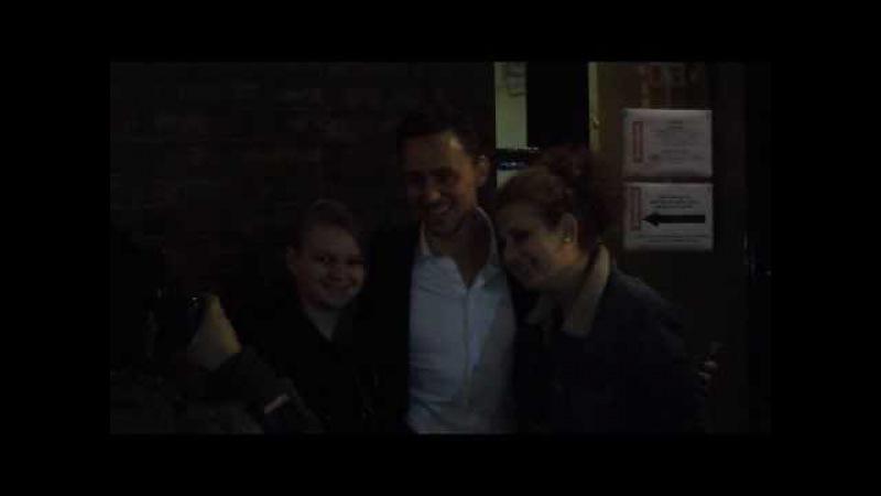 Tom Hiddleston at Donmar Warehouse - Saturday 14/12/2013