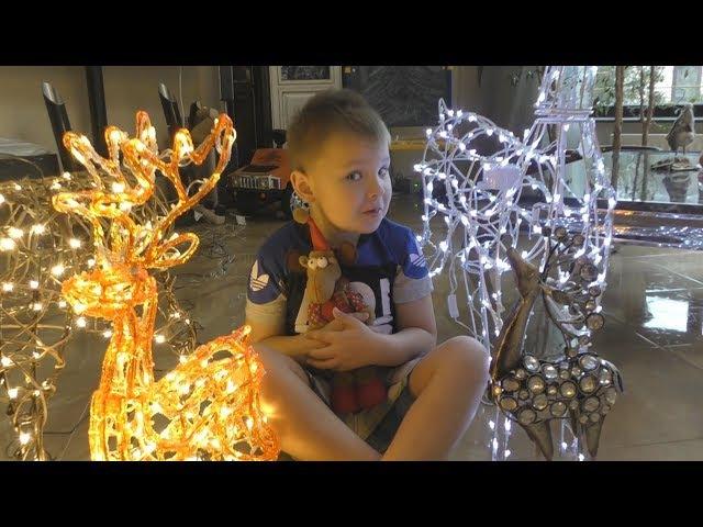 UnBOXing Christmas reindeer. Preparing for the New year. Новогодние олени из КИТАЯ РАСПАКОВКА