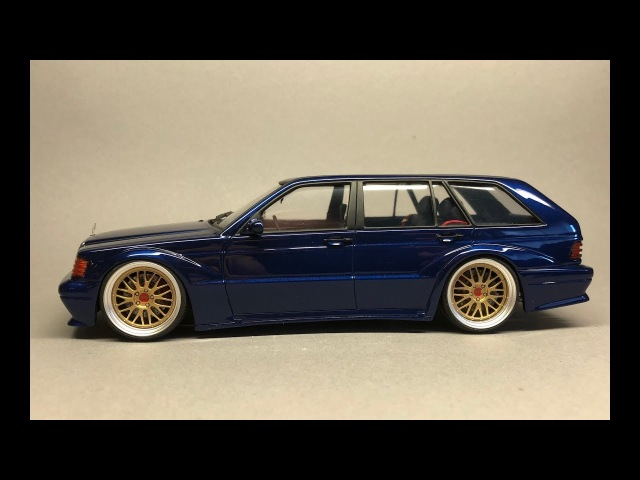 Fujimi/Scaleproduction: Mercedes Benz 190E EVO II Touring Full Build Step by Step