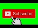 Футажи Subscribe и Like Green Screen
