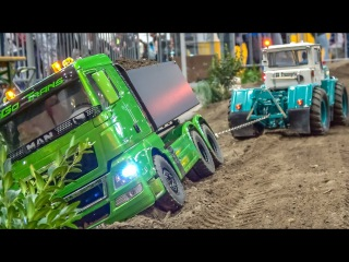 RC Tractor Pulling! Truck Rescue! Trucks and Tractors in ACTION!