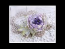 Shabby Chic Silk Foam Flower