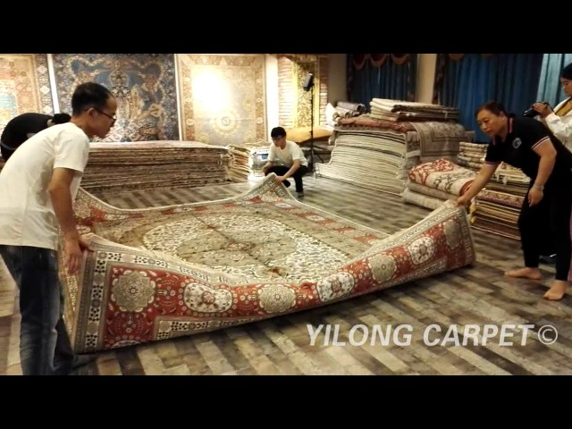 Tabriz Silk Rugs Hand Knotted Pure Silk Carpet