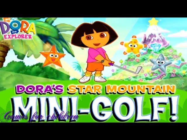 Games for kids Dora the Explorer Doras Star Mini-golf Games for children