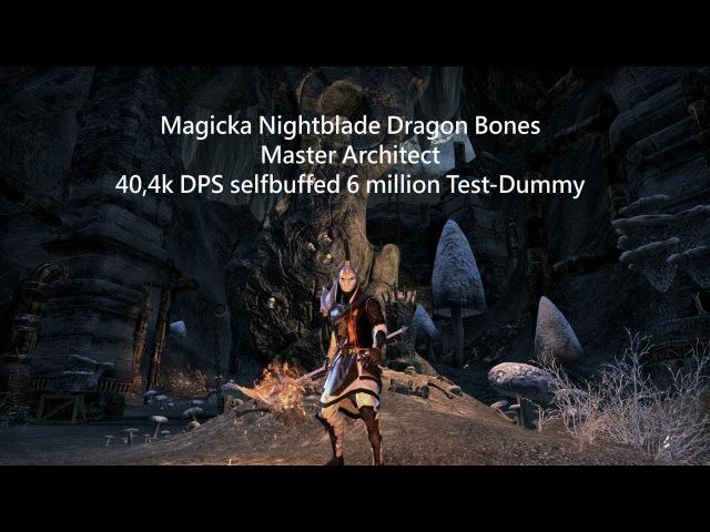 Magicka Nightblade Dragon Bones (40,4k selfbuffed 6 million - Master Architect)