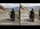 Google Pixel 2 Motorcycle video stabilization side by side