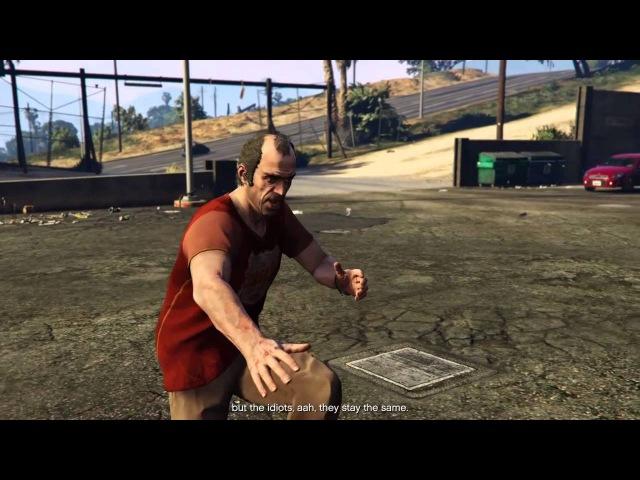 GTA V Flying Trevor cutscene glitch