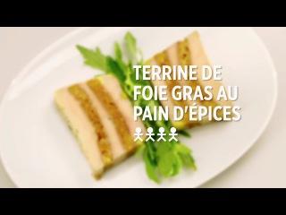 Terrine de foie gras au pain d'épices - recette #simplissime