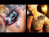 Тату глаз, как делать татуировку, процесс нанесения.