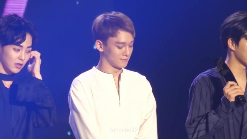 [FANCAM] 170920 Soribada Best K-Music Awards @ EXO`s Chen - Daesang Ment