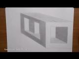 Как_нарисовать_простой_3д_рисунок_карандашом_-_каменный_куб