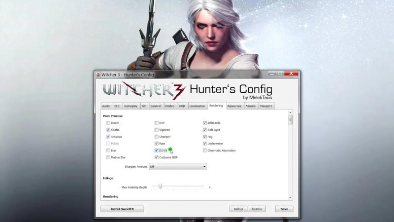 [Kvodan Wj] Witcher 3 Hunters Config | Настройка графики на слабых и мощных ПК!