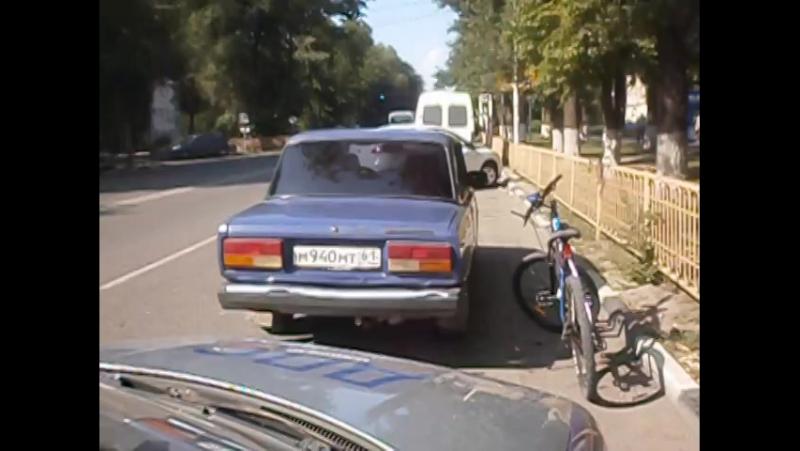 Погоня за таксистом без лицензии ГИБДД по г. Аксаю.