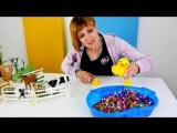 Видео для детей #ВеселаяШкола. Строим ЗООПАРК вместе с Машей #КапукиКануки. Песенка про птичку