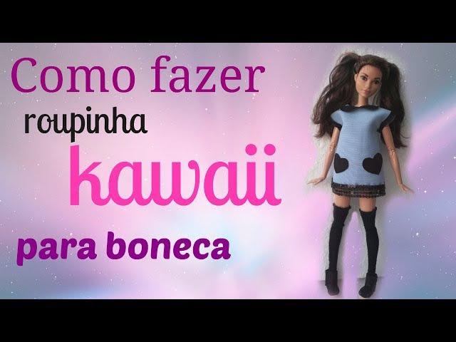 Como fazer roupinha KAWAII para Barbie e bonecas similares » Freewka.com - Смотреть онлайн в хорощем качестве