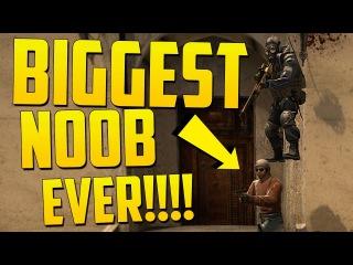 BIGGEST SILVER NOOB EVER! - CS GO Funny Moments (Fake Bomb, Flash Kill, Epic No Scope!)