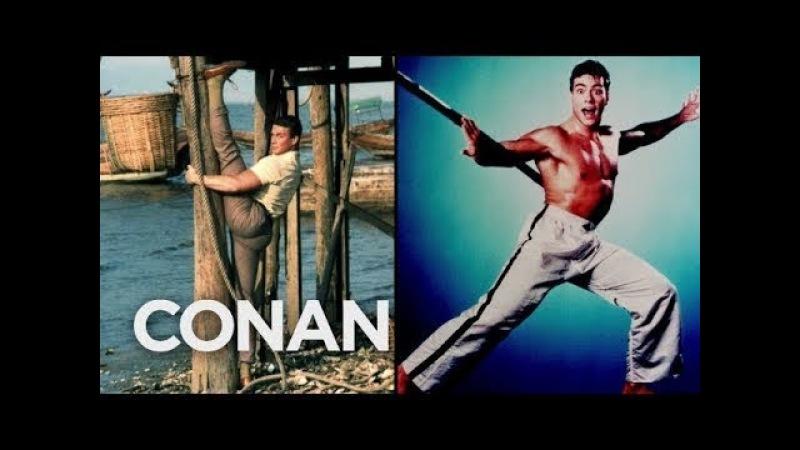 Шоу Конана О'Брайена – Ван Дамм знает, как надо фотографироваться | перевод