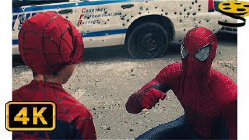 Человек-Паук против Носорога. Финальная Сцена | Новый Человек-паук: Высокое напр ...
