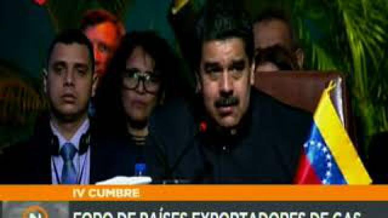 Pdte. Nicolás Maduro durante la IV cumbre del Foro de Países Exportadores de Gas