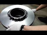 Монтаж тормозного диска на ступицу DAF