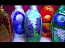 DIY Декор бутылок своими руками Декорирование бутылок Мастер класс из бутылок Рисунок на стекле