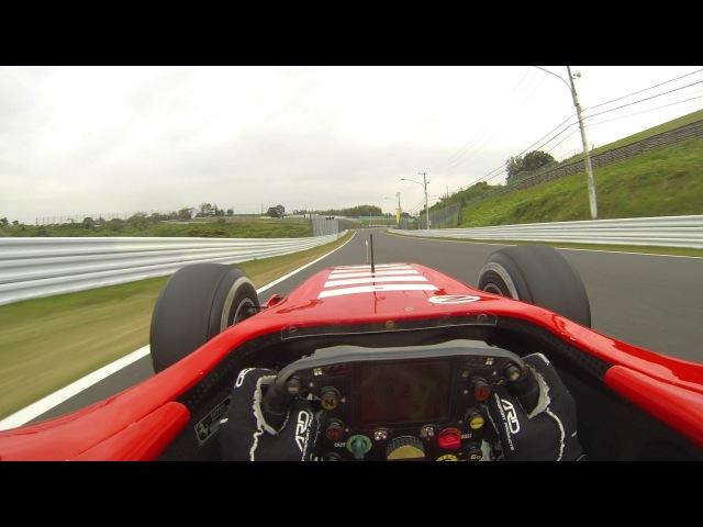 Eye view of 2006 Ferrari F1 248 shakedown in 2016 Suzuka