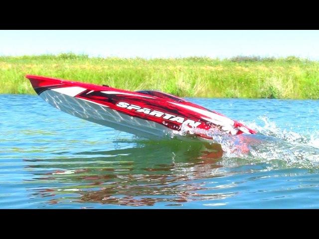 RC ADVENTURES - TOP SPEED RUNS w/ 6S Lipo Traxxas Spartan 36