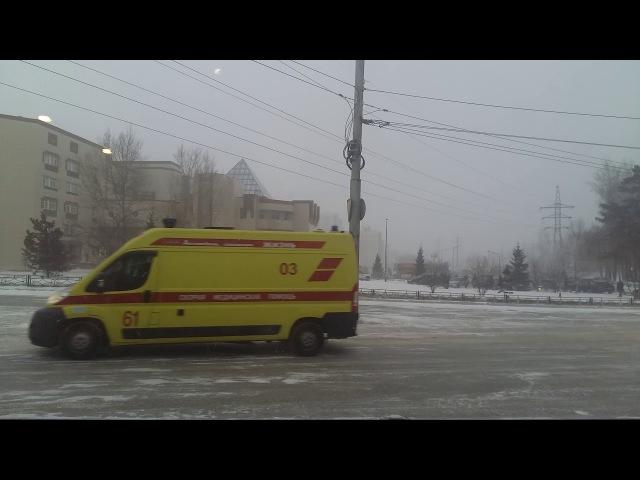 Кортеж президента Путина в Красноярске
