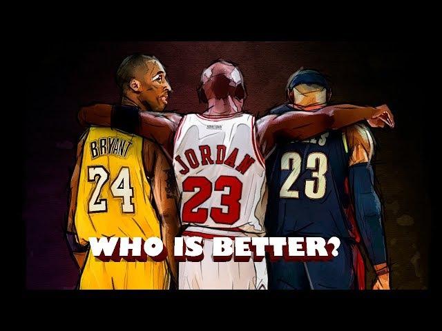 Michael Jordan, Kobe Bryant, LeBron James Comparison