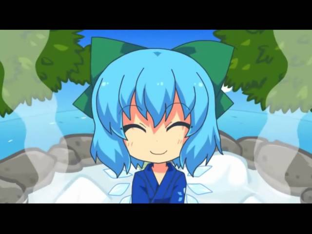 【Touhou IOSYS PV】The Lovely, Freezing, Tomboyish Bath, Cirno's Hot Spring【東方】