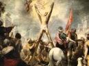 Путь к храму. С нами Бог и Андреевский флаг.