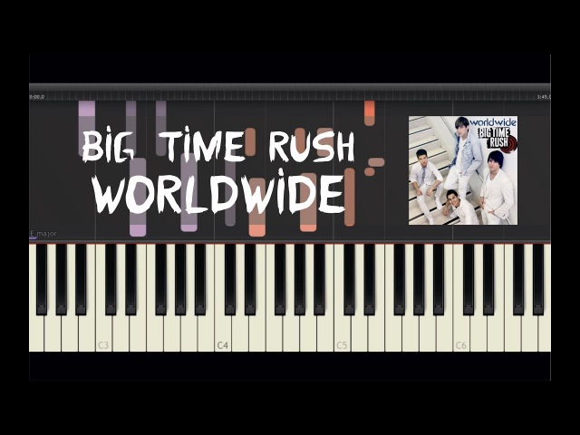 Big Time Rush - Worldwide - Piano Tutorial by Amadeus (Synthesia)