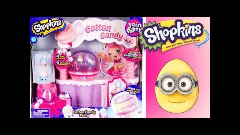 Shopkins Season 7 Cotton Candy Party Playset Masha Little Elsa MLP Hello Kitty - Eggs and Toys TV