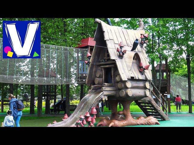 👦 Москва День 6 Лукоморье Детская площадка Outdoor Playground for kids Family Fun in Moscow Vlog