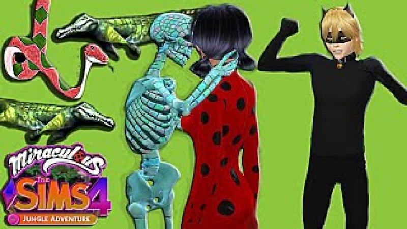 The Sims 4 Miraculous LADYBUG KISSED by SKELETON IN FRONT CAT NOIR