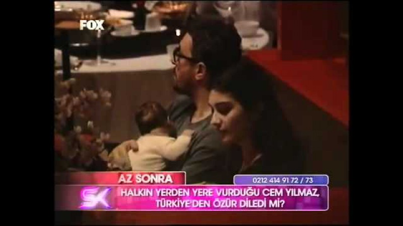 Tuba Buyukustun, Onur Maya and Toprak at Dragon restaurant on fox tv