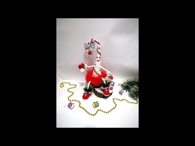 Елка Топотушка на пеньке.   МК от Noel  DIY MC   Christmas tree Topotushka on hemp.