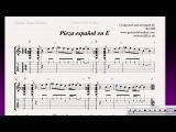 Original piece - Pieza Espanol en E - Beginner/Intermediate
