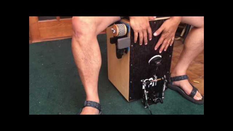 Cajon-Eez's Cajon Jingle Accessory - Cajon Hi-Hat Gadget Demo