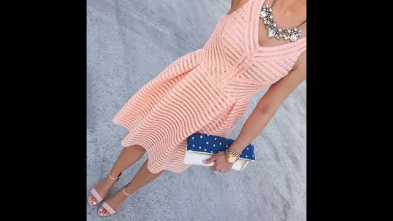 МК вязаное платье крючком Элегия crochet 2 часть Вяжем с Мелкой платье крючком кружево